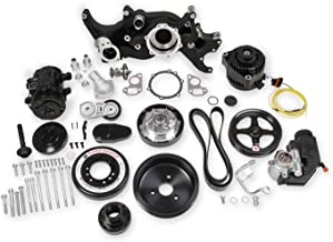 NEW HOLLEY BLACK PREMIUM MID-MOUNT LS7 COMPLETE ACCESSORY SYSTEM W/ SD7 A/C COMPRESSOR,ALTERNATOR,P/S PUMP,TENSIONER,SFI CERTIFIED DAMPER W/BILLET CRANK PULLEY,COMPATIBLE WITH GM LS ENGINES