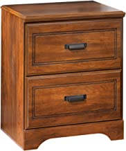 Ashley Furniture Signature Design - Barchan Nightstand - 2 Drawers - Casual Replicated Cherry Grain - Medium Brown
