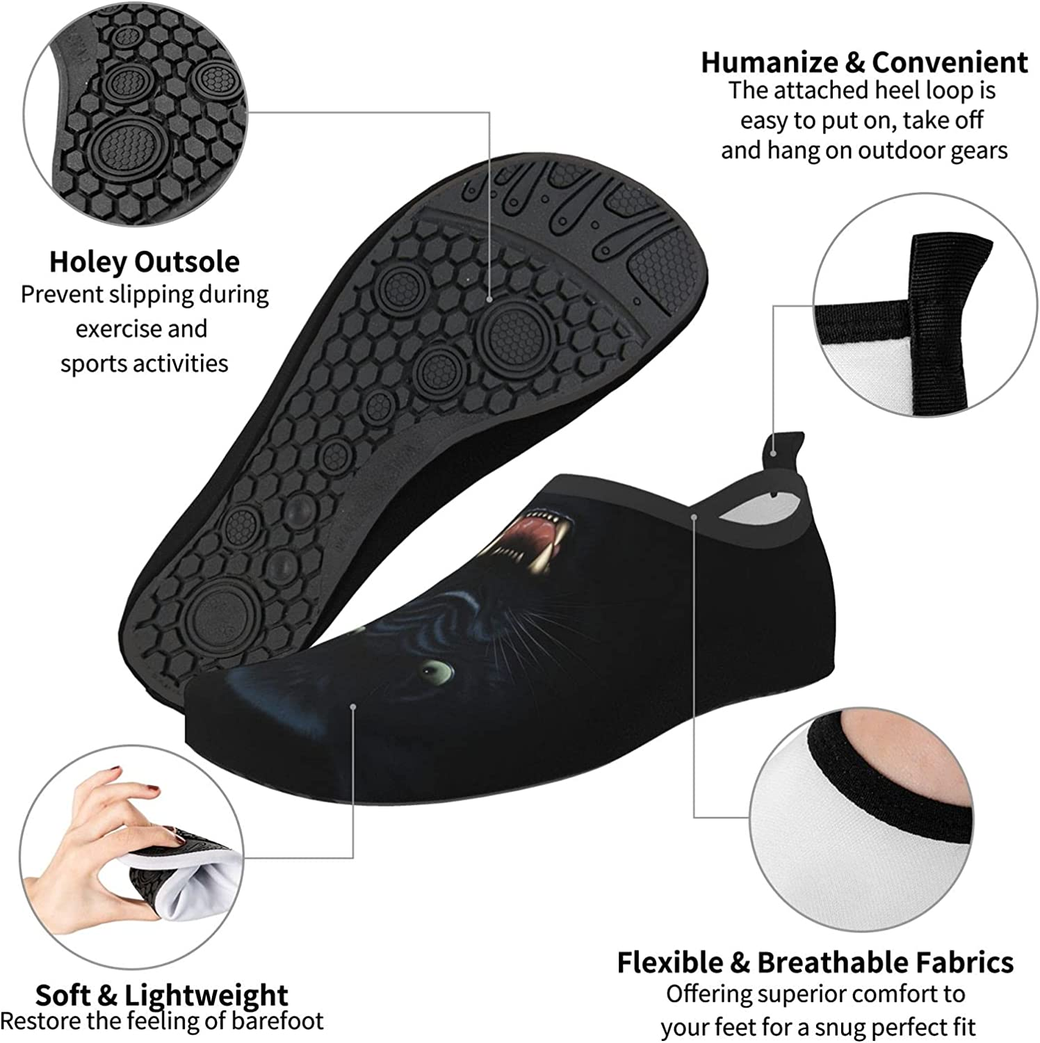 Koala Babies and Yellow Bees Water Shoes for Women Men, Barefoot Quick-Dry Aqua Socks for Water Sports Yoga Exercise