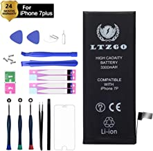 LTZGO 3300mAh Battery Compatible with iPhone 7 Plus, High Capacity Li-ion Protection Replacement Battery with Repair Tool Kits Screen Protector - 2 Years Warranty/Made in 2019