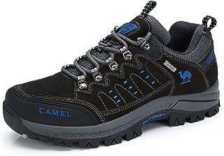Men's Hiking Shoes Lightweight Leather Sneaker Walking Trekking Training Casual Work Shoes