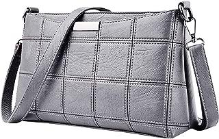 Women Tassel Bag Leather Plaid Messenger bag Shoulder Small square package