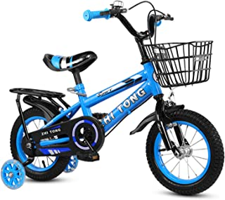 ZIEM 12/14/16 Inch Children Bike Boys Girls Toddler Bicycle Adjustable Height Kid Bicycle with Detachable Basket for 2-7 Y...
