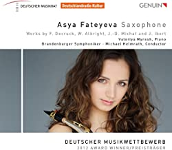 Asya Fateyeva : uvres pour saxophone.