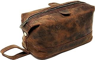 Cuero Shop Leather Toiletry Bag for Men travel kit dopp kit Shaving Kit Gift For men
