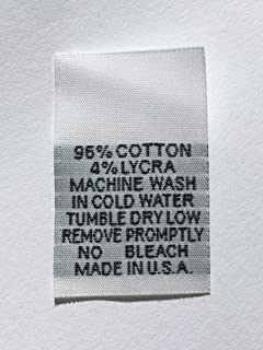 100 PCS White Woven Clothing Sewing Garment Care Label Tags - 96% Cotton 4% Lycra