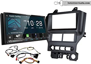 Kenwood DDX8706S Double Din Radio Install Kit With Apple CarPlay, Android Auto, Sirius XM Ready Fits 2015-2017 Mustang