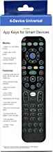 4-in-1 Advanced Smart Universal with Macro, Learning, Backlight, Netflix & Apps Keys for All TVs, Roku Player, BluRay Player, Audio System, Xbox, Apple TV and More - Universal Remote Control RRU401.3