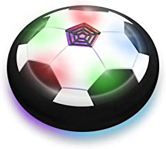 Boy Toys - LED Hover Soccer Ball - Air Power Training Ball Playing Football Game - Soccer Toys 3 4 5 6 7 8-12 Year Old Kids Toys Best Gift