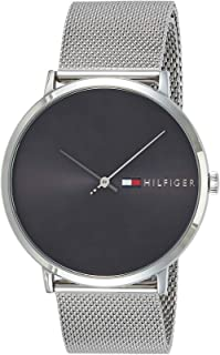 Tommy Hilfiger Men's Grey Dial Stainless Steel Band Watch - 1791465
