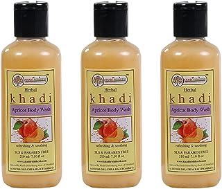 Khadi Rishikesh Herbal Apricot Body Wash combo set pack of - 3 x 210 ml (630 ml)