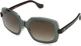 BA0063-93F SUNGLASSES shiny light green Frame w/gradient brown Lens 55mm