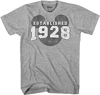 Mickey Mouse EST. 1928 Vintage Classic Disneyland World Men's Adult Graphic T-Shirt