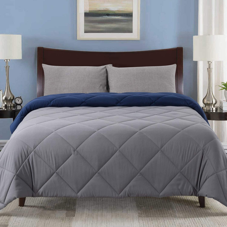Cosybay Reversible Down Alternative Max 55% OFF Comforter Max 41% OFF Grey - Corner Blue