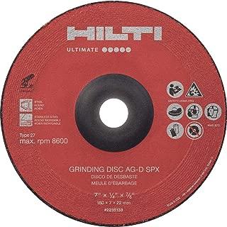1//8 in Thick Type 27 7//8 Center Hole 58315 WEILER Tiger Standard 30 GRIT Ceramic Cut /& Grind Wheel 4 1//2 in Diameter