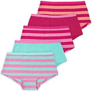 | Annika Girls Boyshort Panties | Soft Cotton Blend Underwear | 5-Pack