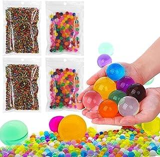 LINKCITY CREATIVE 20000 Small & 400 Jumbo Water Beads Sensory Toys for Kids, Non Toxic Water Gel Beads Rainbow Mix Pack - ...