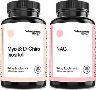 Myo & D-Chiro Inositol + NAC | Hormone Balance, Healthy Ovarian Function, Fertility & Mucolytic Support | Vegan Friendly