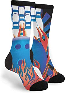 Bowling Ball Bowling Pins Bowler Youth Male Mens Boys Teen Kid Unisex Ankle Themed Clothing Gifts Party Clothes Dresses Quarter Dress Mid Calf Knee Crew Socks Calf Knit Hosiery