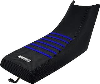 Enjoy MFG 1987 - 2006 Yamaha Banshee All Black / Blue Ribs Seat Cover (ATV)