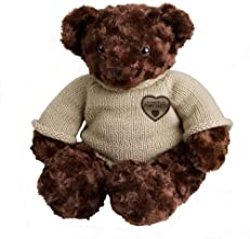 Perfect Memorials Custom Engraved Large Teddy Bear Cremation Urn Dark Brown