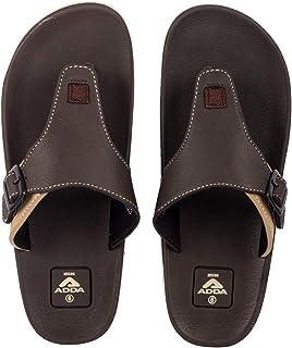 ADDA ADAM Men's Black/Grey EVA,TPR Slipper Flip-Flop