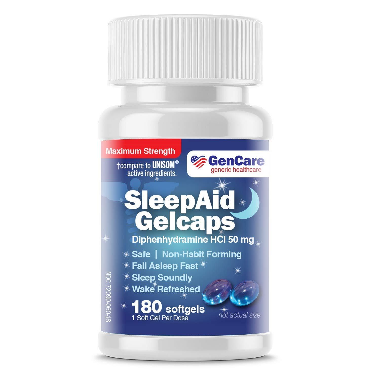GenCare Nighttime Diphenhydramine Softgels Refreshed