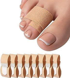 UniShop 8 Pcs Hammer Toe Straightener, Hammer Toe Splints, Toe Cushioned Bandages for Correcting Hammer Toes, Broken Toes,...