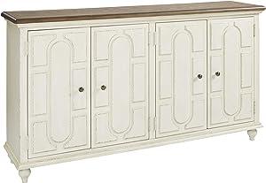 Signature Design by Ashley Roranville Accent Cabinet, Antique White
