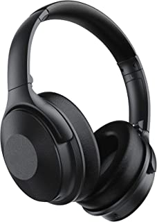 Active Noise Cancelling Headphones, 45 Hours Playtime, Quick Charge V5.0 Wireless Headphones Over Ear, Wireless/Wired Head...
