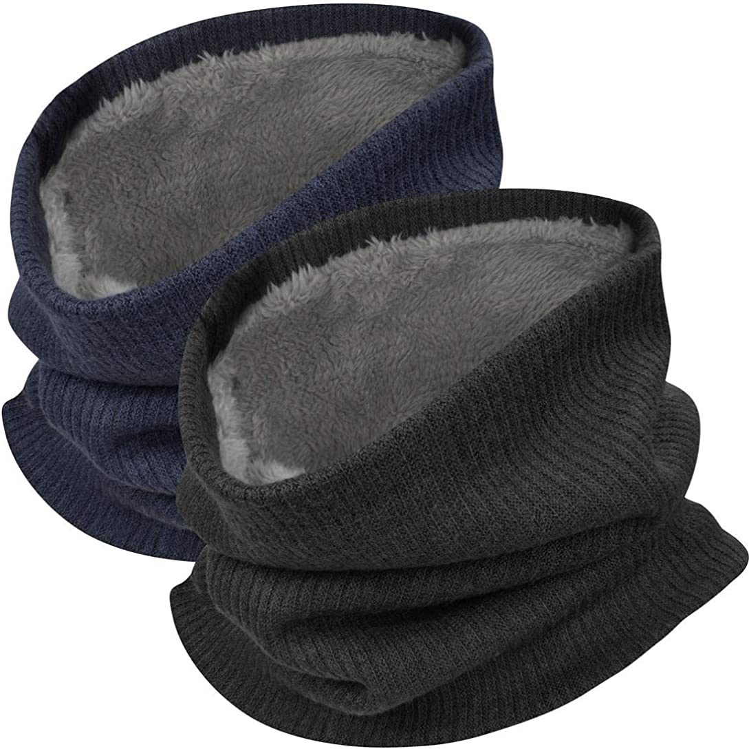 doble capa gruesa para hombre y mujer resistente al viento heekpek Bufanda unisex de invierno con forro polar y forro polar para esqu/í o moto