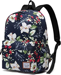 Floral Backpack for Girls,Fashion Floral College Student School Bags for Girls Womens by Vaschy