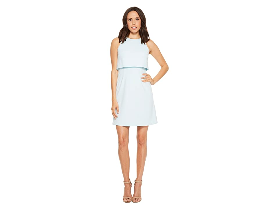 Donna Morgan Sleeveless Fit and Flare Pop-Over (Clear Sky) Women