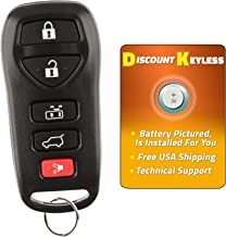 Discount Keyless Remote Entry Replacement Car Key Fob For Nissan Quest KBRASTU51