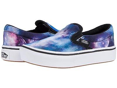 Vans Kids ComfyCush Slip-On (Little Kid) ((Galaxy) Black/True White) Kid