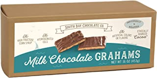 South Bay Chocolate Co. 16 oz (1 LB) Milk Chocolate Enrobed Graham Crackers, 16Count