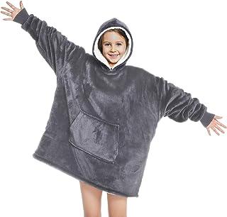 Touchat Wearable Blanket Hoodie, Oversized Sherpa Blanket...