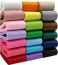 "Midi Ribbon Solid Color Grosgrain Ribbon Asst. 20 Colors 2"" X 2 Yard Each Total 40 Yds Per Package"