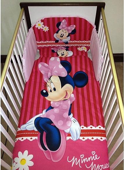 Disney Minnie Mouse Set Di Lenzuola Per Culla O Lettino Amazon It Prima Infanzia