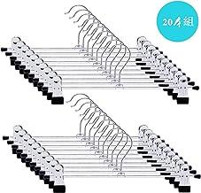 LEEPWEI ズボンハンガー スカートハンガー クリップ すべらない ハンガー 頑丈 便利なハンガー黒 ブラック 20本組 幅30㎝