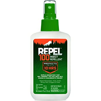 Repel HG-94108 100 Insect Repellent, Pump Spray, 4-Fluid Ounce