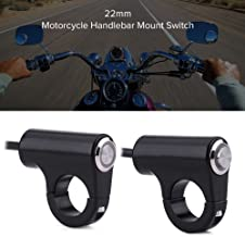 Anauto 22mm Motorcycle Handlebar Mount Switch Push Button Headlight Brake Fog Lights ON/Off(A)