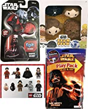 Darth Friends Set Star Wars Tsum Plush Set Pack 4 Characters Disney Mini Tsum Collection Han Solo, Princess Leia & Chewbacca Stackable Cute Soft + Lord Vader Toy & Activity Book Character Stickers