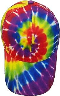 Rainbow Baseball Tie Dye Cap Hat for Men Women Kids