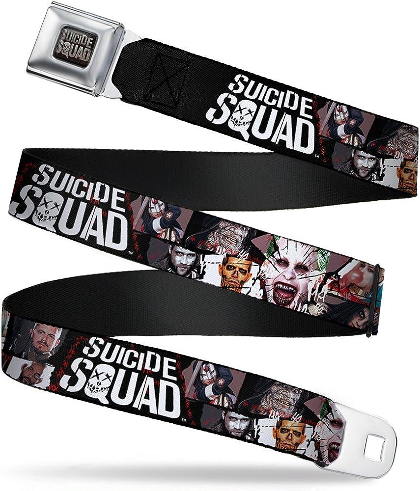 Buckle-Down Boys Seatbelt Belt Suicide Squad Wdc035