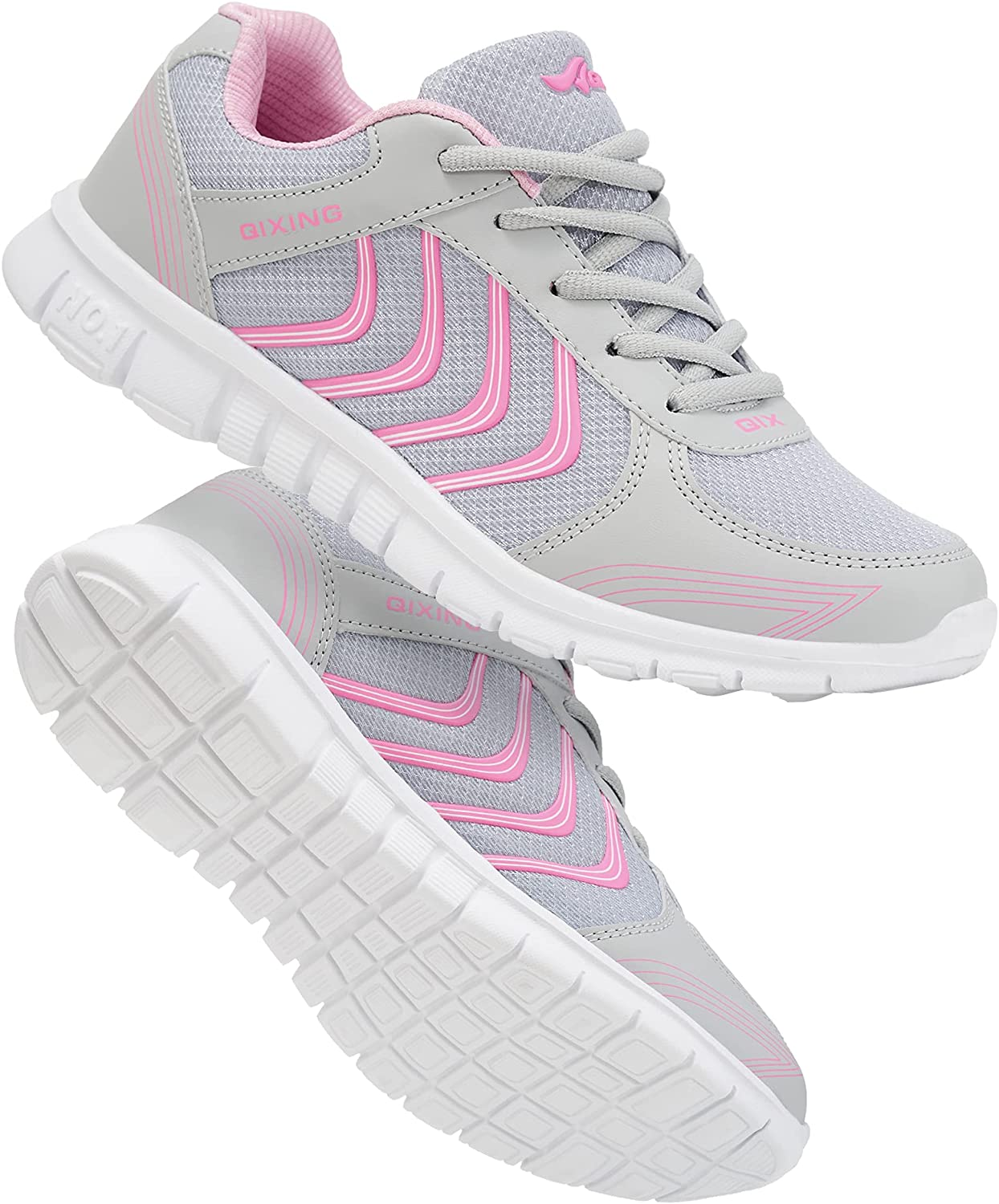 Alicegana Women's Athletic Road Running Lace up Walking Shoes Co