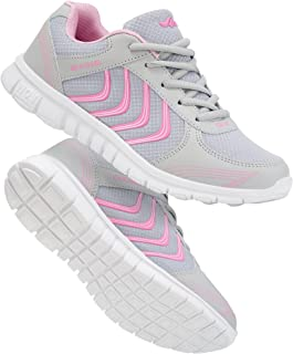Alicegana Women's Athletic Road Running Lace up Walking Shoes Comfort Lightweight Fashion Sneakers Breathable Mesh Sports ...