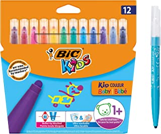 BIC Kids Kid Couleur Baby Colouring Pens 12 Pack