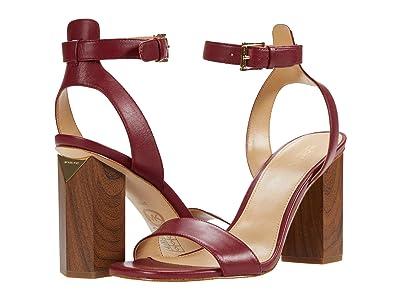 MICHAEL Michael Kors Petra Ankle Strap (Maroon) Women