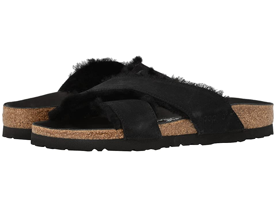 ef874df65783 Birkenstock Daytona (Black Suede Shearling) Women s Sandals